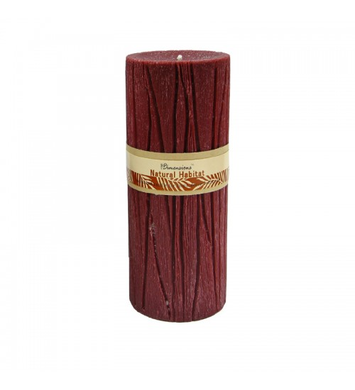 Pillar Candle (7.3 x 7.3 x 17.5Cm) (Red)