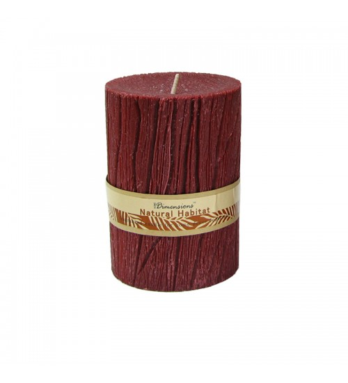 Pillar Candle (7.3 x 7.3 x 12Cm) (Red)