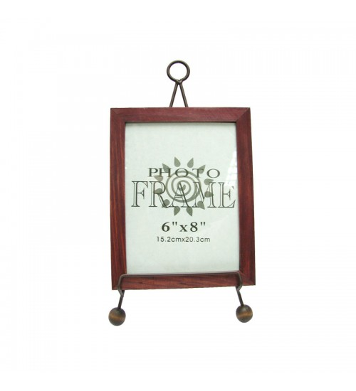 Iron Picture Frame With Stand (Size:6inch x 8inch)
