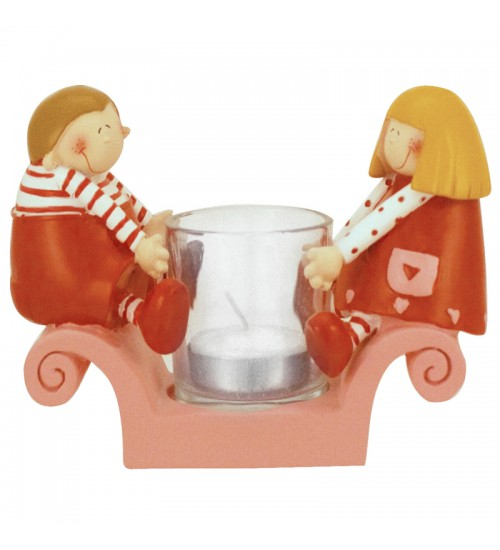 Cute Couple Candle Holder