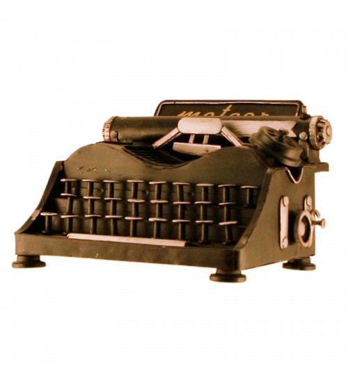 Retro Classic Handmade Iron '1911 Type Writer' Model Craft Figure