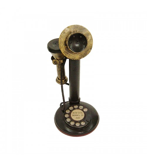 Retro Classic Handmade Iron 'ANTIQUE TELEPHONE' Model Craft Figure