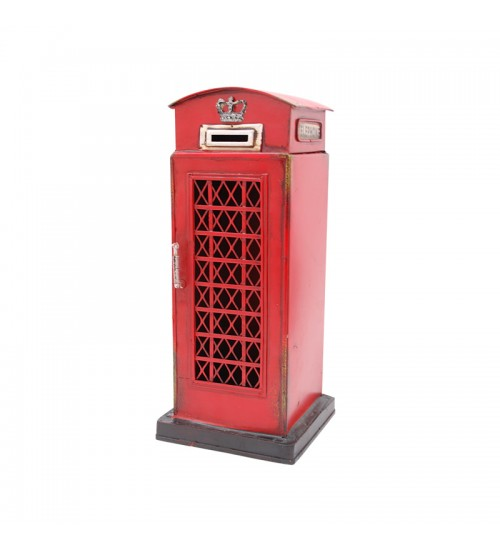 Retro Classic Handmade Iron 'TELEPHONE BOOTH (BOX)' Model Craft Figure