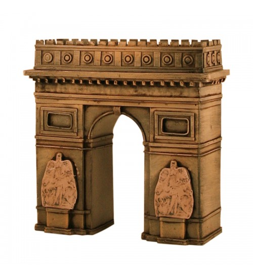 Retro Classic Handmade Iron 'Triumphal Arch Saving Bank' Model Craft Figure