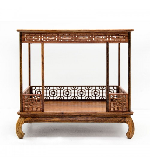 Chinese Rosewood Miniature Bed A