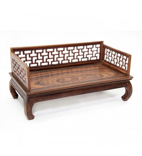 Chinese Rosewood Miniature Bed B