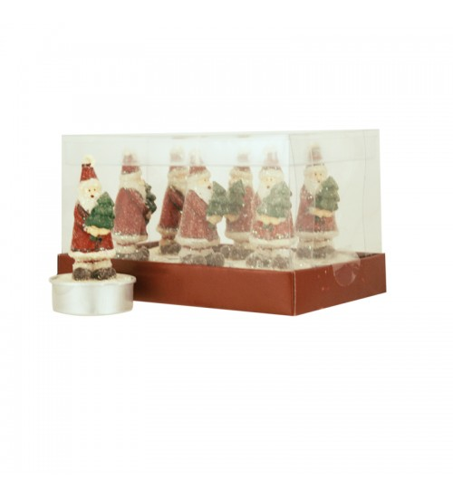 Santa Tealights (6 Pack)