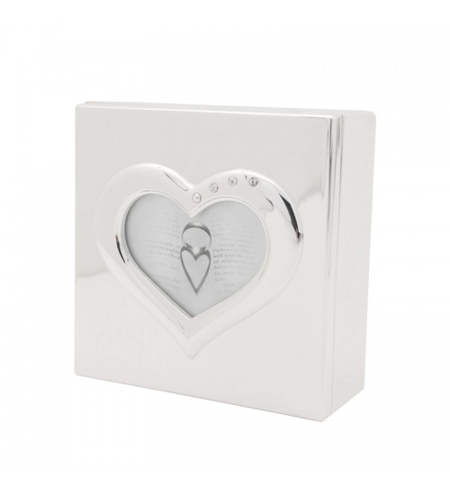 Wedding Silverware - Heart Shaped Box B