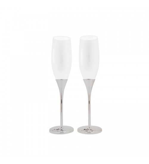Wedding Silverware - Pair Of Champagne Glass