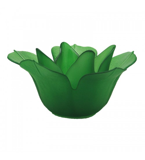 Magnolia Glass Candleholder (Green) - L