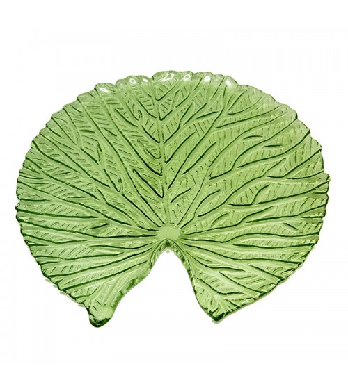 Lotus Leaf Glass Tray ( S)