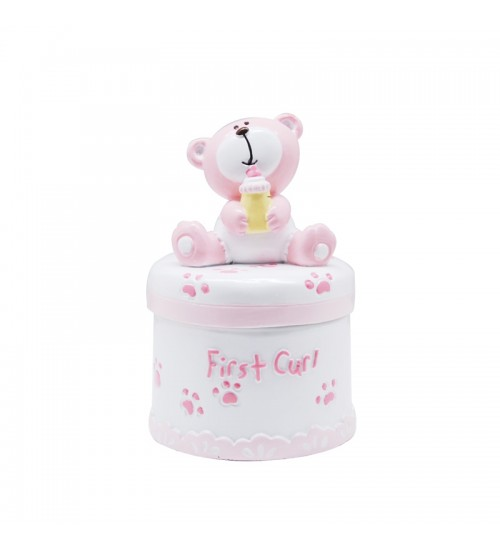 Baby Bear First Tooth Box (Pink)