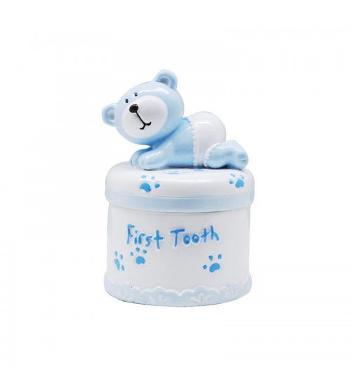 Baby Bear First Tooth Box (Blue)