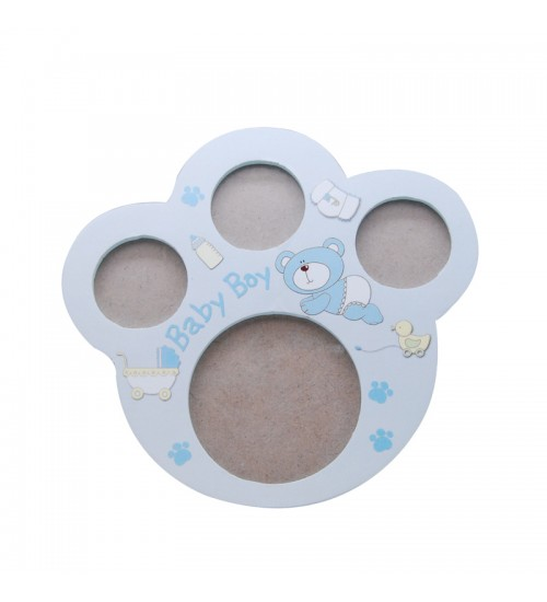 Baby Bear Paw Photo Frame (Blue)