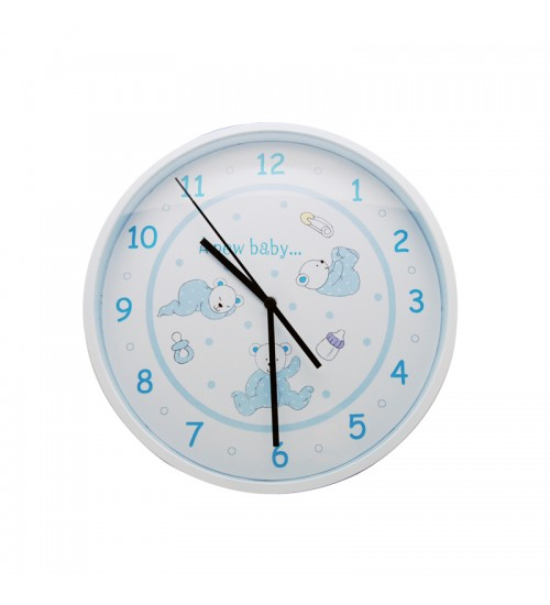 Baby Bear Clock (Blue)