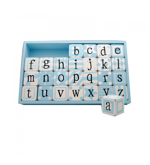 Alphabets With Box (Blue)