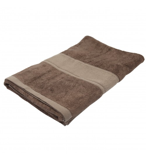 "Pure Bamboo Fiber Bath Towel - Chocolate Brown (27"" x 55"")"