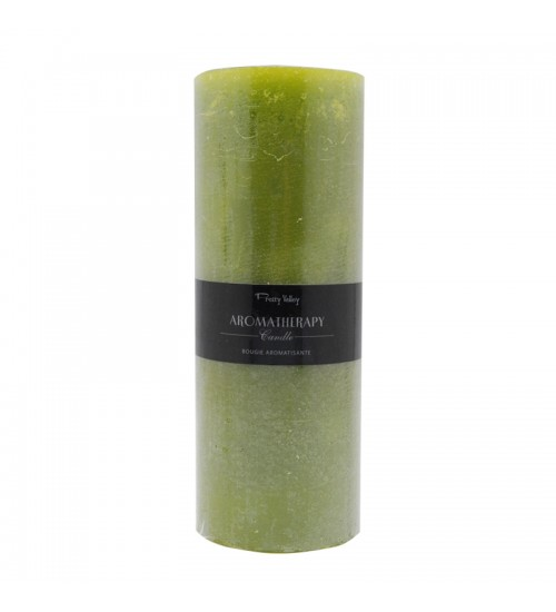 Aromatherapy Candle (L) - Green Tea & Jasmine / Grass Green