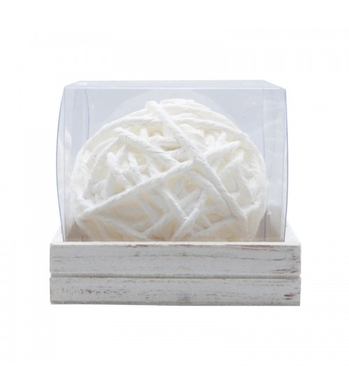 Ball Of Yarn Candle - White