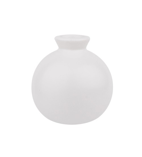 Circular Ceramic Bottle - White