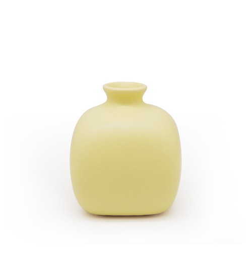 Square Ceramic Bottle - Green