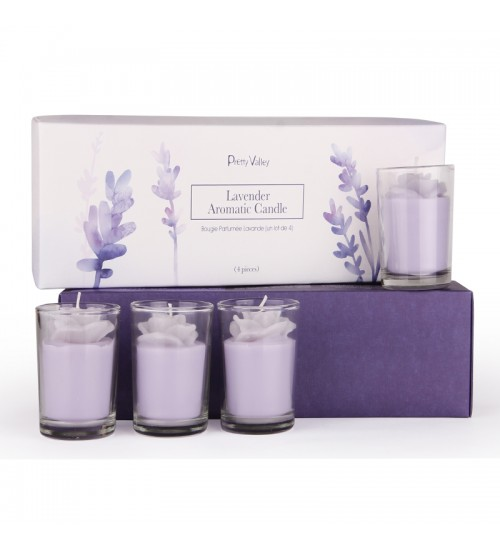 Lavender Aromatic Candle (4Pcs)