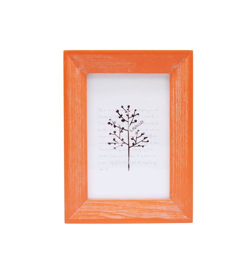 """Colorful Wooden Picture Frame (Orange) (Size:4"""" x 6"""")"""
