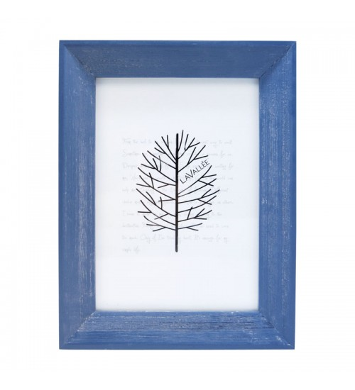 """Colorful Wooden Picture Frame (Blue) - L (Size:5"""" x 7"""")"""