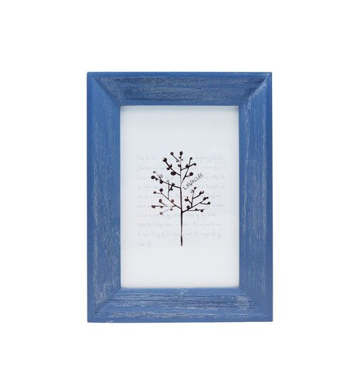 """Colorful Wooden Picture Frame (Blue) - S (Size:4"""" x 6"""")"""