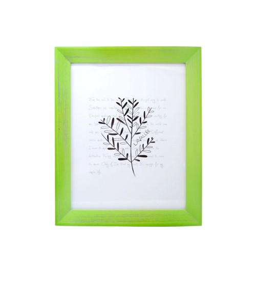 """Colorful Wooden Picture Frame (Green) - L (Size:8"""" x 10"""")"""