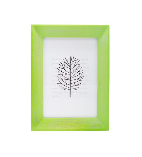 """Colorful Wooden Picture Frame (Green) - S (Size:5"""" x 7"""")"""