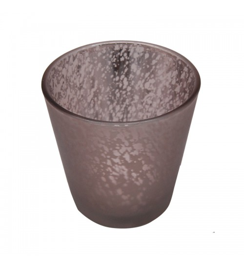 Metallic Glass Candleholder (L) - Light Brown