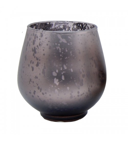 Metallic Votive Candle Holder (Dark Brown)