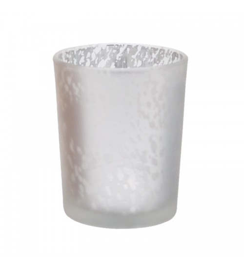 Metallic Glass Candle Holder (Light Brown)