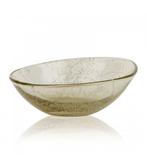 Glass Soap Dish - Yellow Beige