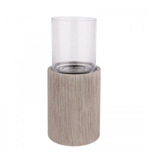 Ceramic & Glass Vase (Grey)