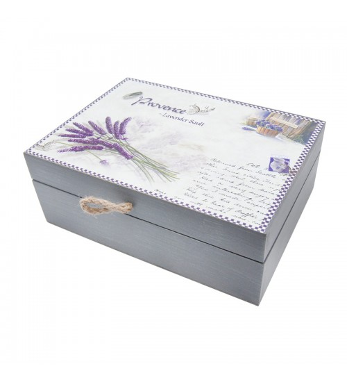 Lavender Of Provence - Wooden Storage Box (S)