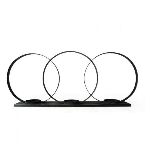 3-Ring Iron Candleholder