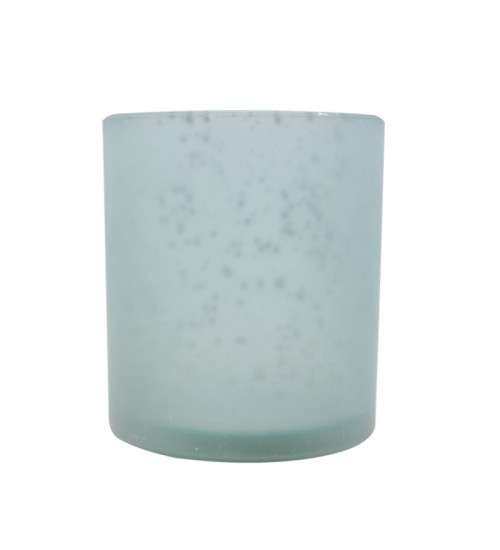 Cylinder Glass Candle Holder (Light Green)