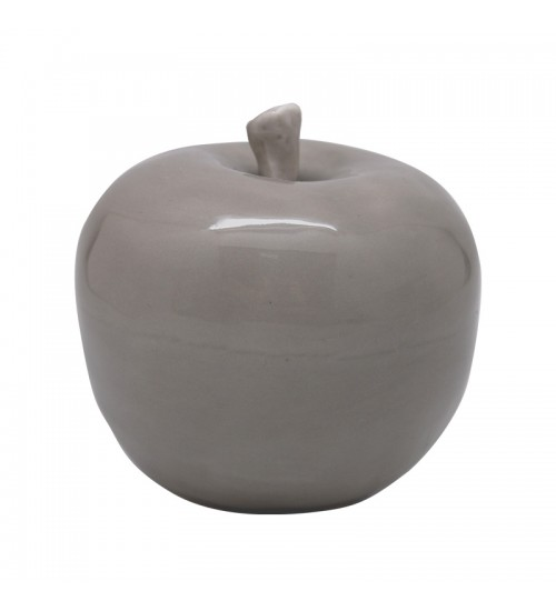 Ceramic Grey Apple Home Decor accent (S)