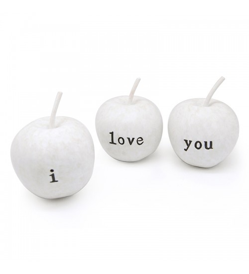 "Home Decor acent - Apple ""I LOVE YOU"""