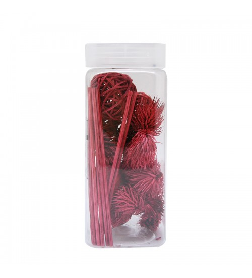Dried Flower and Décorative Nuts - Red