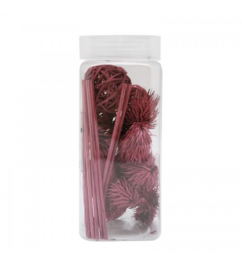 Dried Flower and Décorative Nuts - Rosy