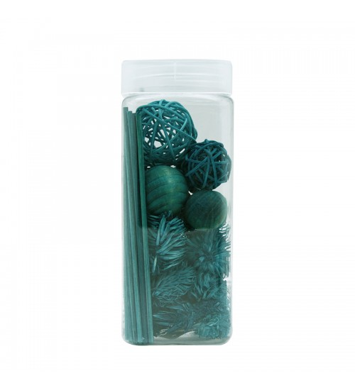 Dried Flower and Décorative Nuts - Blue