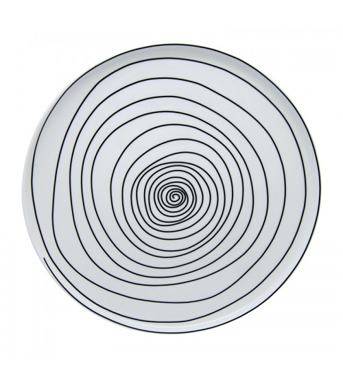 Spiral Collection - Plate (White) L