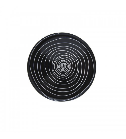 Spiral Collection - Plate (Black)