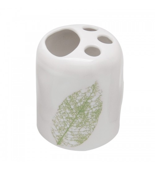Green Leaf - Toothbrush Holder (Ceramic)