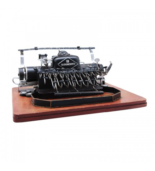 Retro Classic Handmade Iron 'Typewriter USA 1907' Model Craft Figure