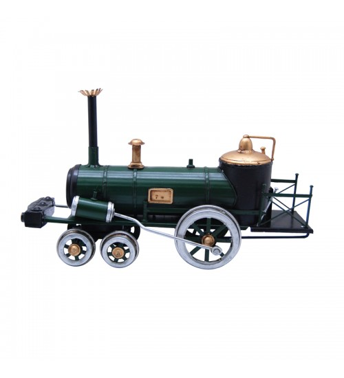 Retro Classic Handmade Iron '1843 GREEN STEAM LOCOMOTIVE AUSTRIA' Model Craft Figure