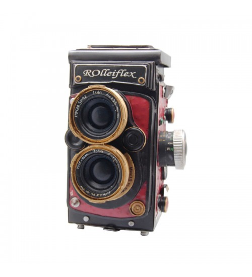 Retro Classic Handmade Iron 'Rolleiflex 4.0' Model Craft Figure